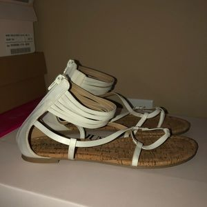 Shoedazzle women's white strappy sandals